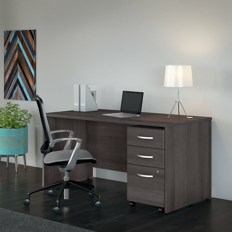 Bush Business Furniture Studio C Computer Desk With Filing Cabinet | Wayfair