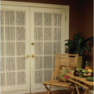 Deija Door Rod Pocket Single Curtain Panel & Front Door Curtains   Wayfair