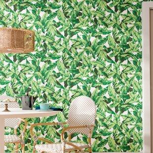 Taconite Palm Leaf 165 L X 205 W Floral And Botanical Peel Stick Wallpaper Roll