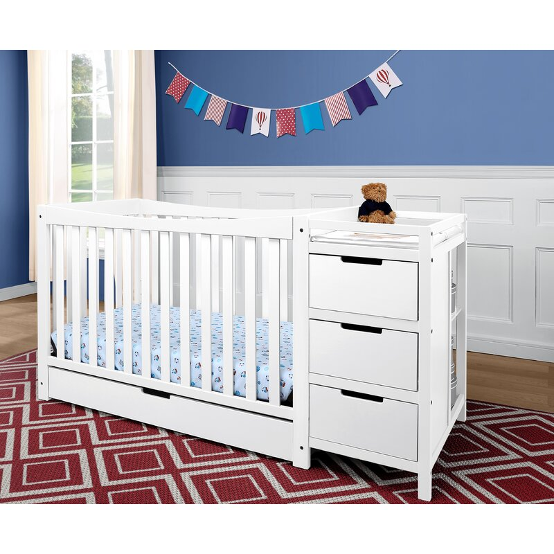Baby Crib Mattress Critiques Graco Remi 3-in-1 Convertible Crib and Changer Combo u0026 Reviews | Wayfair