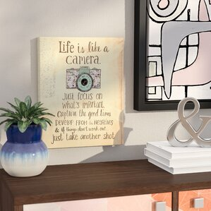 Awesome Inspirational U0027Life Is Like A Camerau0027 Textual Art