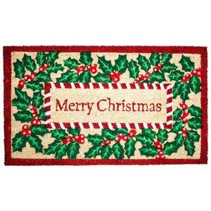 Christmas Holly Doormat