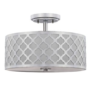 Henley-on-Thames Quatrefoil 3-Light Semi Flush Mount
