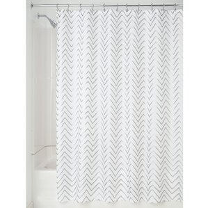 black and white chevron shower curtain. Chevron Sketched Shower Curtain Curtains You ll Love  Wayfair