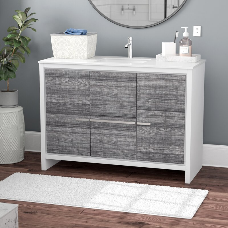 Bosley 48 Single Sink Modern Bathroom Vanity