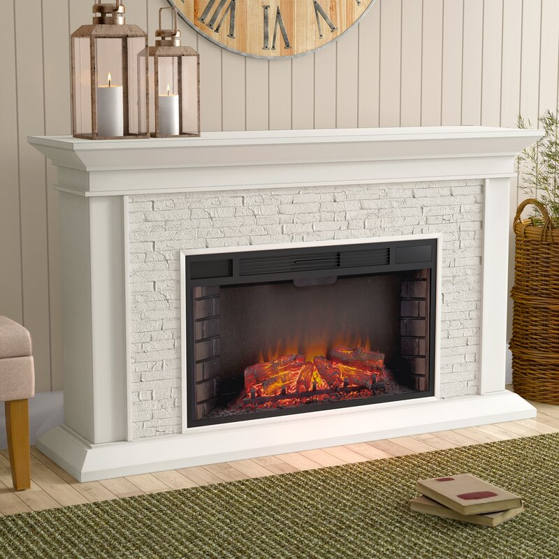 Darby Home Co Simulated Electric Fireplace Amp Reviews Wayfair