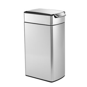 Stainless Steel 10.6 Gallon Touch Top Trash Can