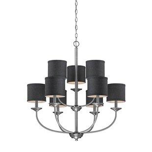 Antique pewter chandelier wayfair steuben brushed pewter 9 light drum chandelier aloadofball Images