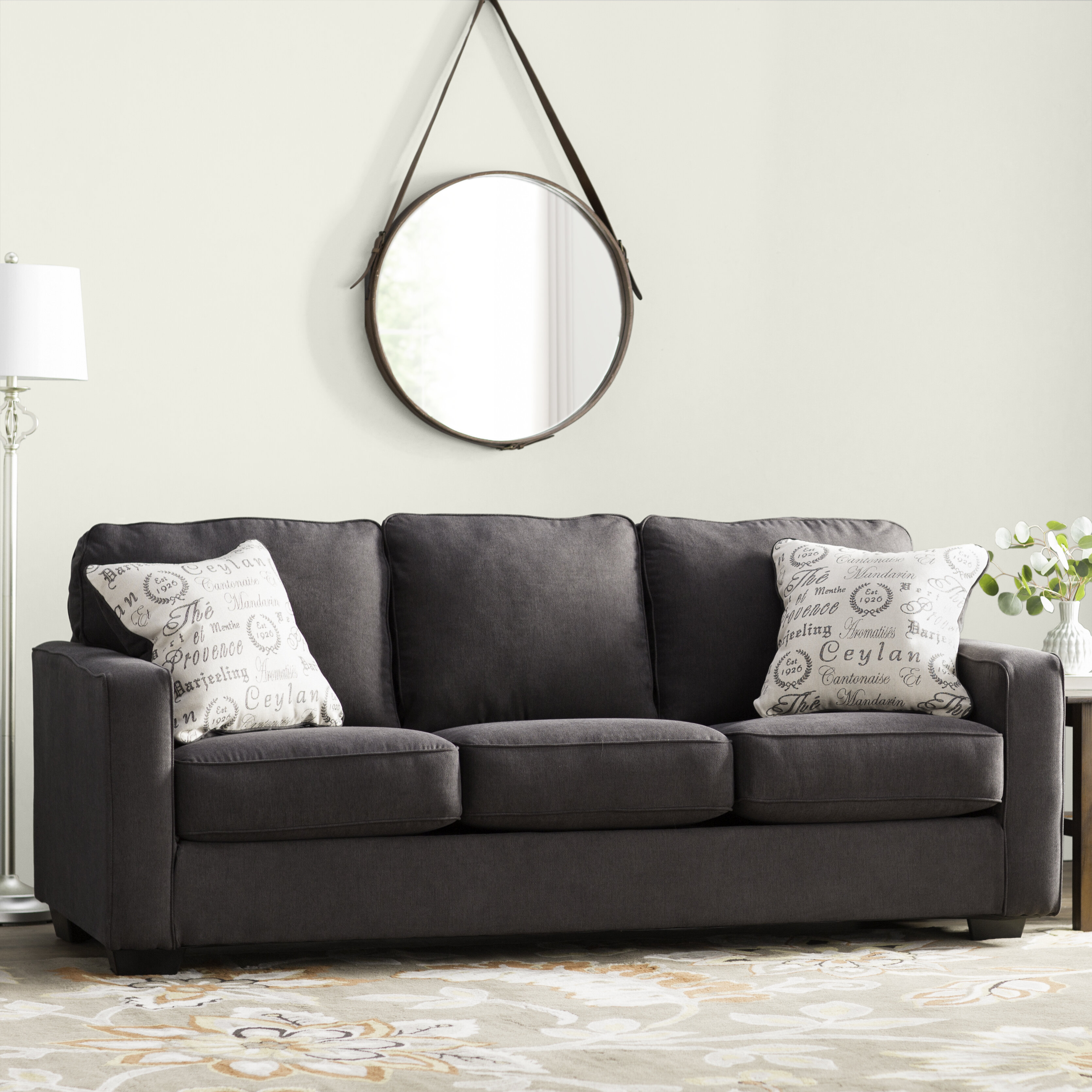 Strange Simmons Charcoal Sofa Wayfair Download Free Architecture Designs Scobabritishbridgeorg