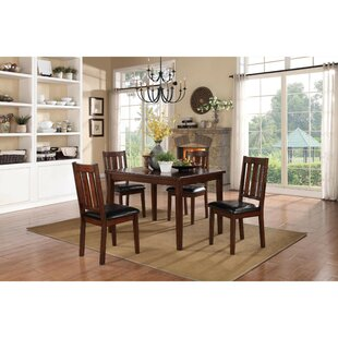 Soderquist Dinette 5 Piece Solid Wood Dining Set Best #1