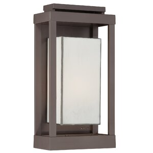 Wilcoxon 1-Light Outdoor Flush Mount in Western Bronze