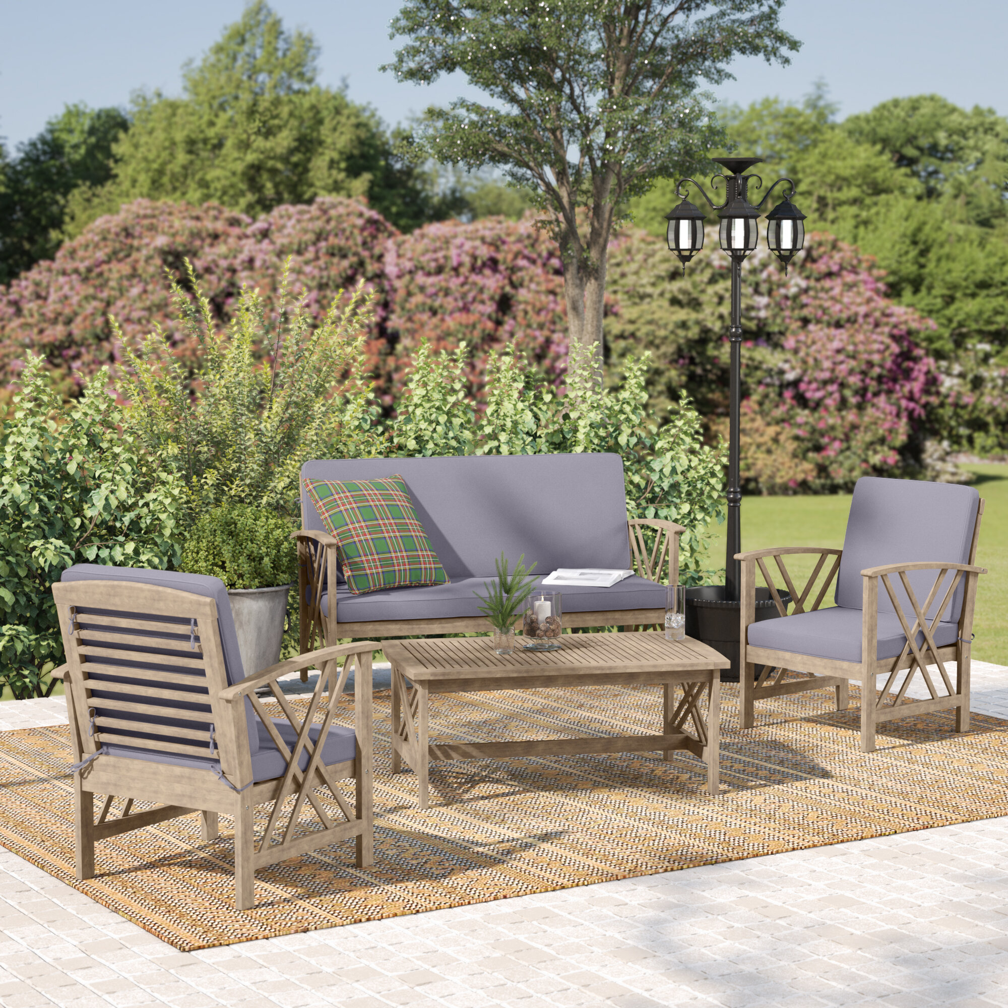 Mistana morgan 4 piece sofe seating group with cushions reviews wayfair
