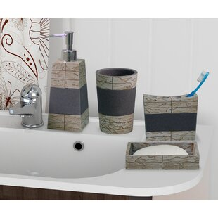 Loeffler Rustic Stone 4 Piece Bathroom Accessory Set