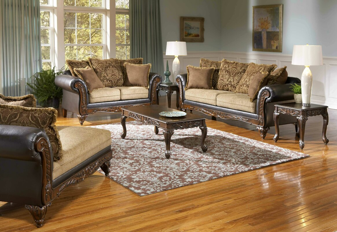 Roundhill Furniture San Antonio Configurable Living Room Set