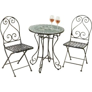 Arana New Mosaic 3 Piece Bistro Set