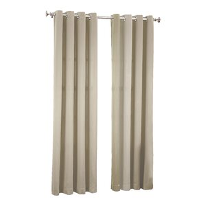 Groton Solid Light Filtering Grommet Single Curtain Panel