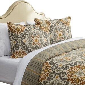 3piece claudia cotton duvet cover set