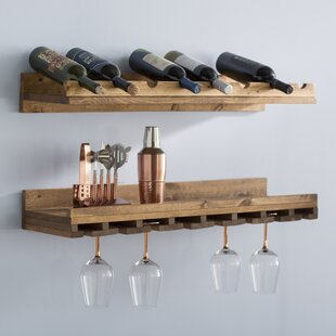 Berlyn 2 Piece 8 Bottle Wall Mounted Wine Rack Set