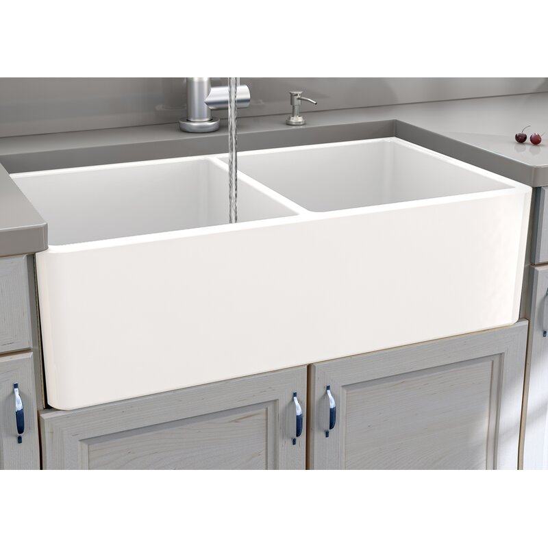 Cape 33 L X 18 W Double Basin Farmhouse Kitchen Sink