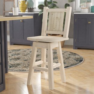 Abella 24 Wood Swivel Bar Stool