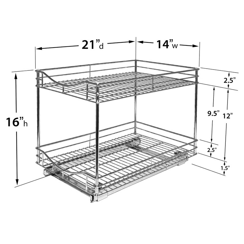 Lynk Roll Out Cabinet Organizer: Lynk Lynk Professional® Roll Out Double Shelf Pull Out Two