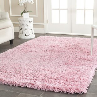 Superb Vernonburg Hand Loomed Pink Kids Rug