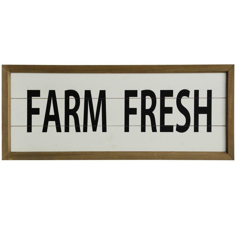 Wooden Farm Fresh Wall Decor & Reviews   Joss & Main