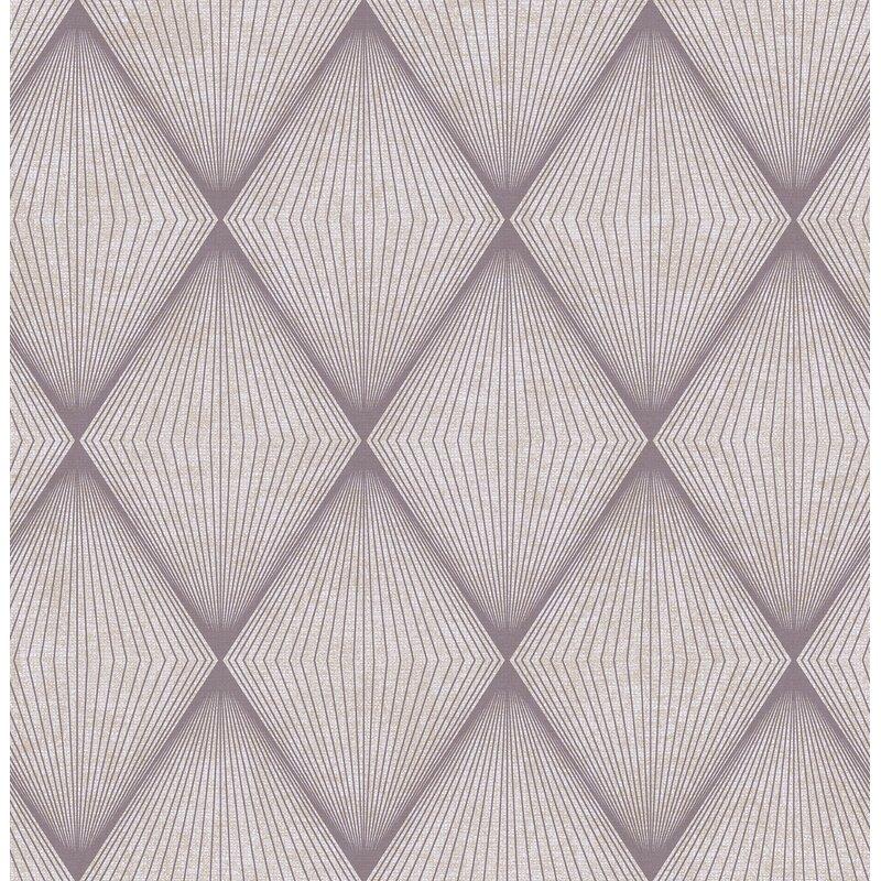 "Brewster Home Fashions Precision Enlightenment Diamond 33' x 20.5"" Geometric Wallpaper"
