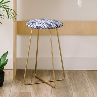 Natalie Baca Geo Wave Indigo 25 Bar Stool