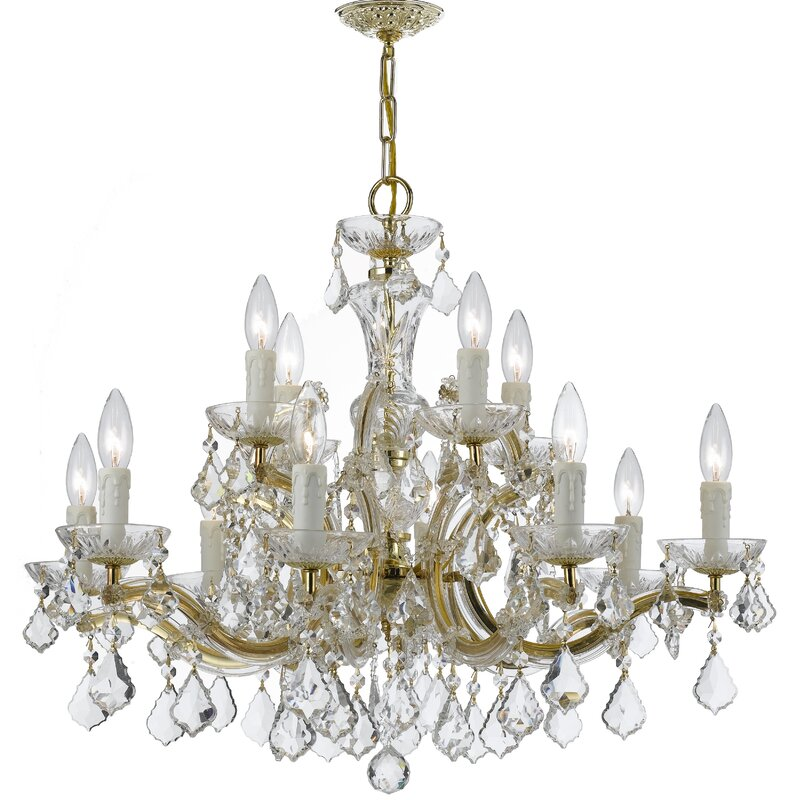 Griffiths 12 light crystal chandelier