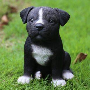 Pitbull statue wayfair sitting staffordshire pitbull puppy statue voltagebd Choice Image
