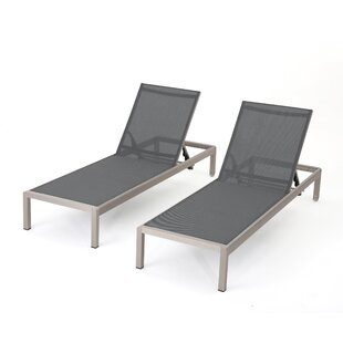 Lacon Modern Outdoor Mesh Chaise Lounge (Set Of 2)