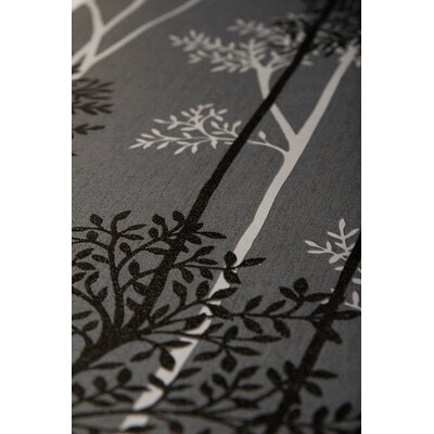 Gracie Oaks Darcella 33' x 20 Floral and Botanical Wallpaper Roll Color: Charcoal/Silver