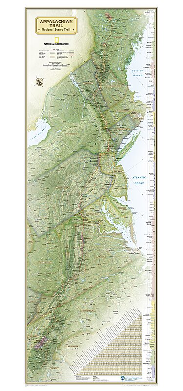 National Geographic Maps Appalachian Trail Laminated Map | Wayfair