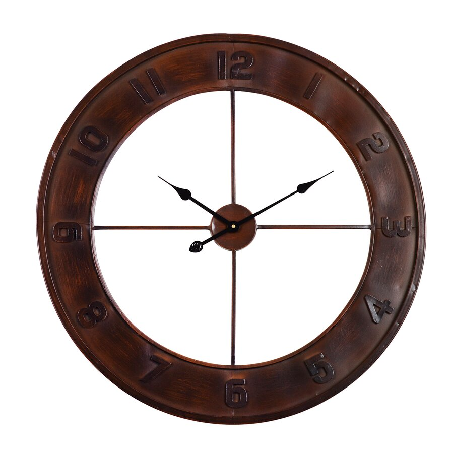 large rustic clocks for wall wayfair