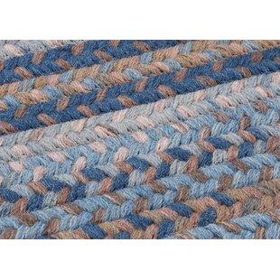 Oak Harbour Laguna Braided Wool Blue Brown Area Rug