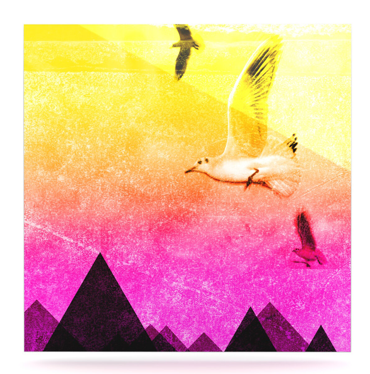 East Urban Home \'Seagulls in Shiny Sky\' Graphic Art Print on Metal ...