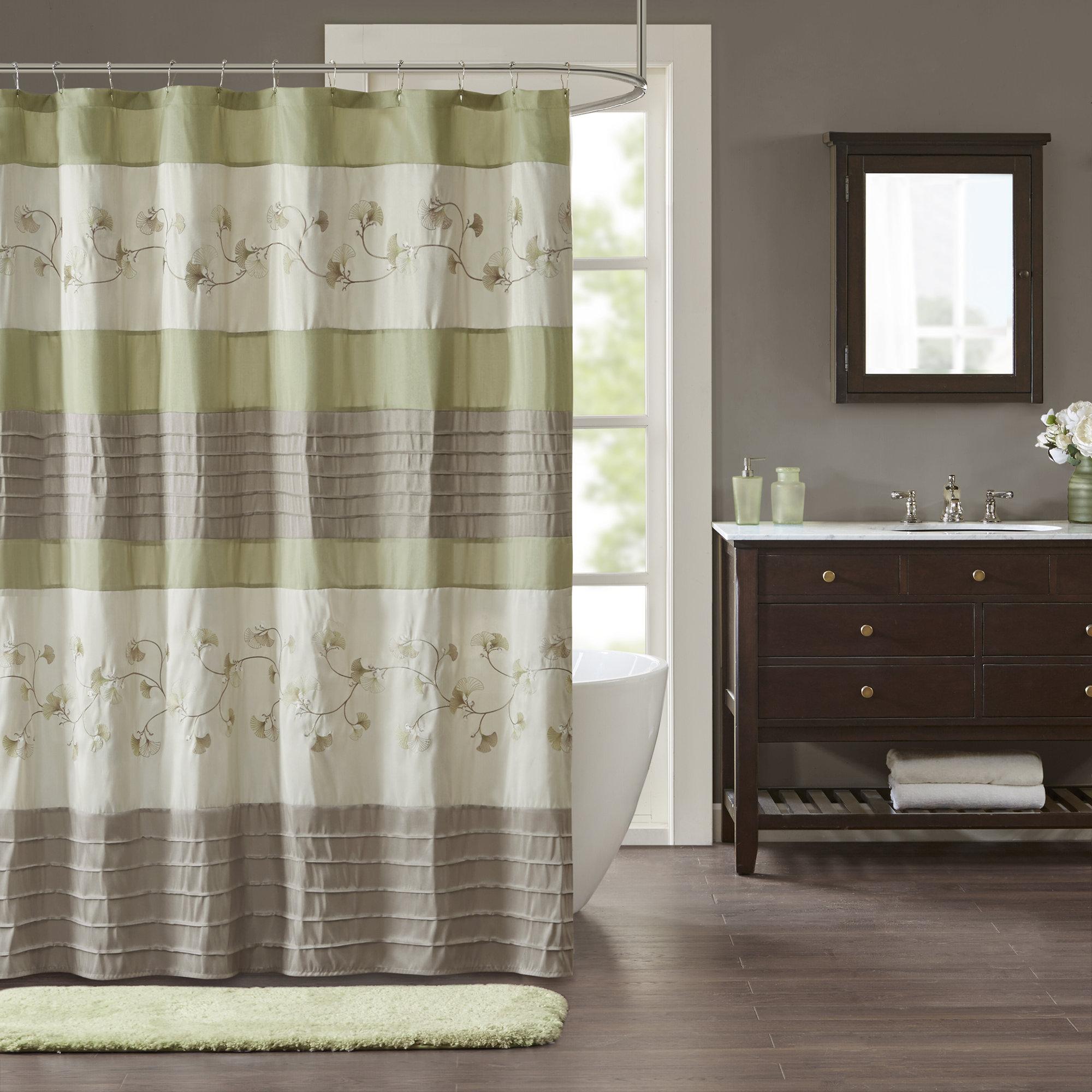 Winston Porter Fossum Embroidered Shower Curtain