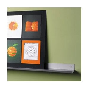envision wall mounted aluminum shelf with lip
