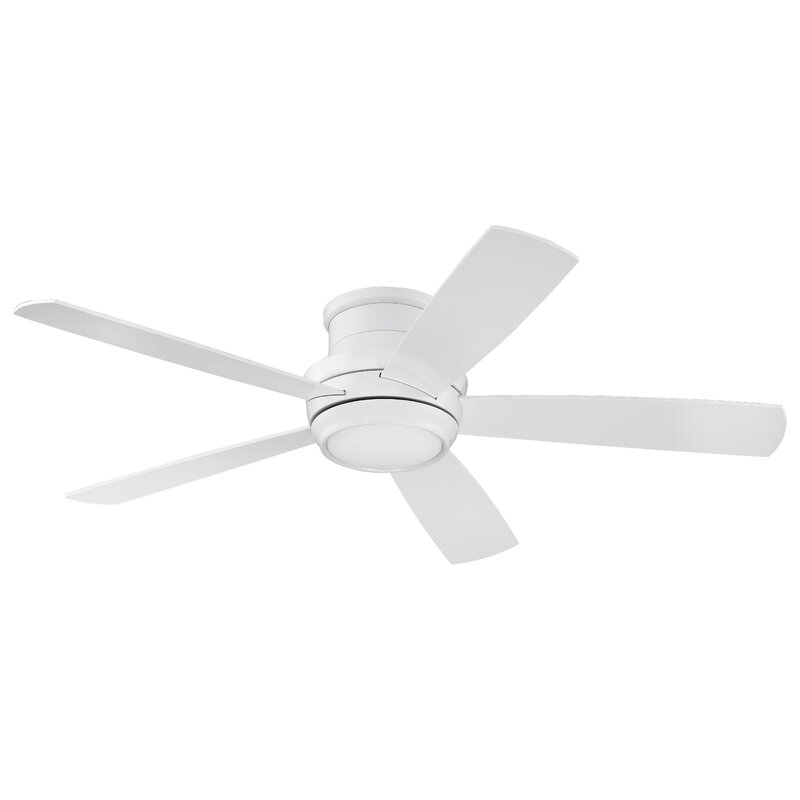 "52"" Cedarton Hugger 5 Blade Ceiling Fan With Remote"