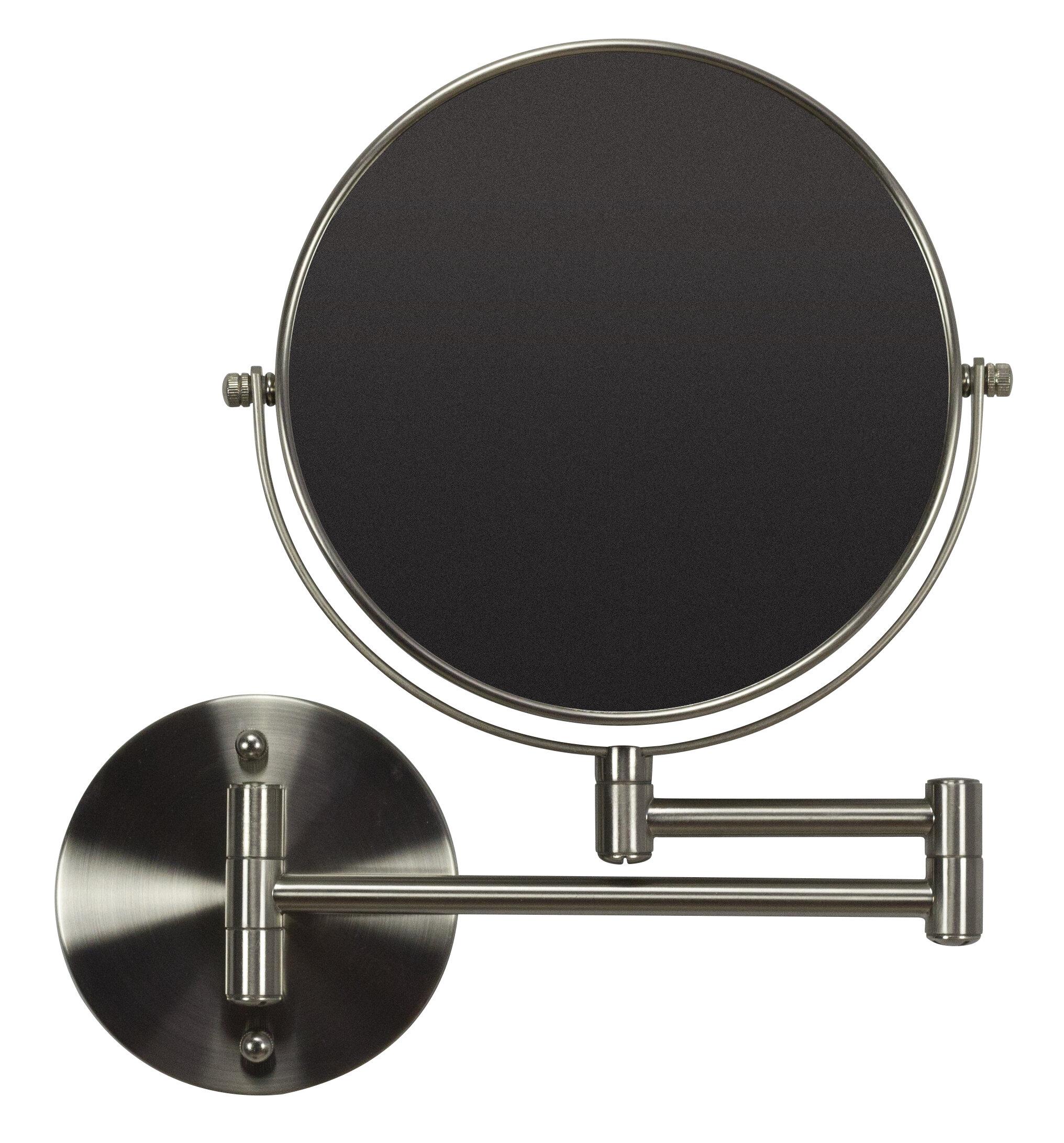 Royalpurplebathkitchen Boonville Round Br Mirror Wall Mount Magnifying Vanity Wayfair