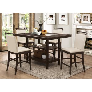 Lovely Winchester 5 Piece Counter Height Dining Set