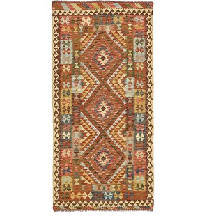 One Of A Kind Doorfield Hand Knotted Runner 3 4 X 6 10 Wool Red Brown Area Rug