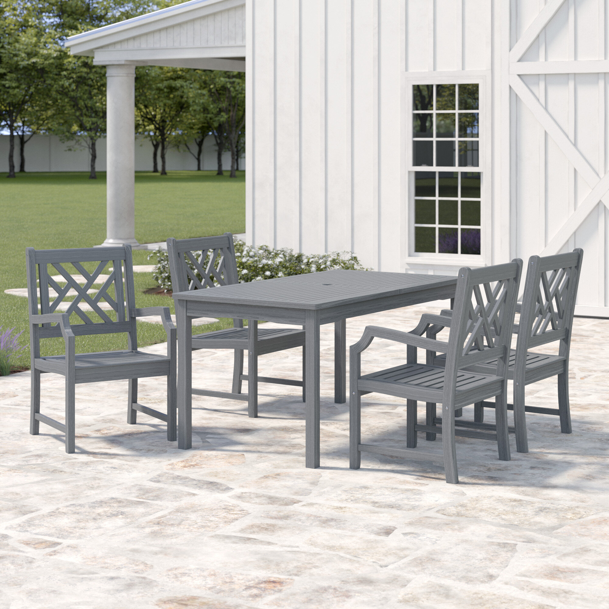 Fabulous Southport 5 Piece Dining Set With Umbrella Ibusinesslaw Wood Chair Design Ideas Ibusinesslaworg