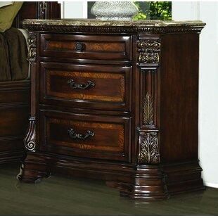 faux marble nightstand   wayfair Marble Top Nightstand