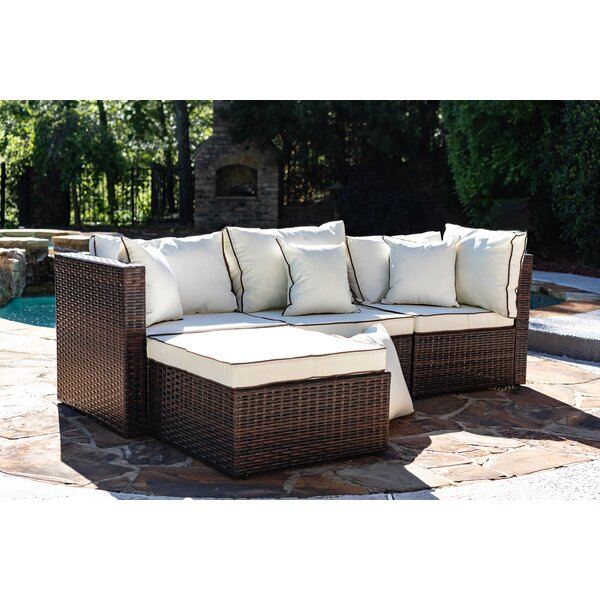 225 & Burruss Patio Sectional with Cushions