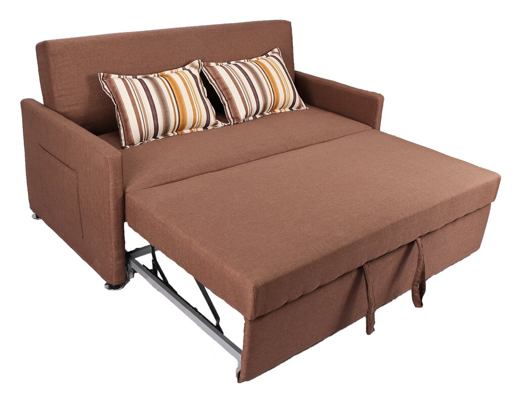 Latitude Run Corvallis Pull Out Sleeper Sofa & Reviews | Wayfair