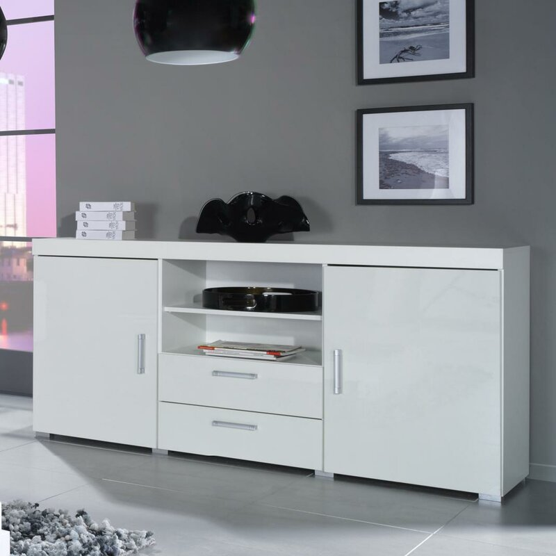 Orren Ellis Fabiola High Gloss Sideboard