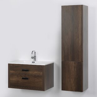 32 Wall Mounted Single Bathroom Vanity Set