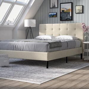 leonard upholstered platform bed - Wood Platform Bed Frame Queen